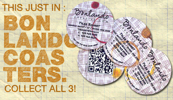 Freelance Graphic and Web Design - Bonlando Creative Coasters!